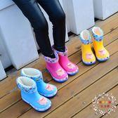 兒童雨鞋寶寶雨鞋防滑1-3 嬰幼兒童雨靴女小孩公主男童水鞋通用可拆卸