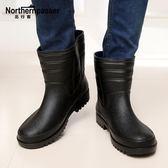 雨鞋男士雨鞋棉保暖中短筒雨靴釣魚防滑套鞋膠鞋廚師鞋洗車鞋冬季 生活優品
