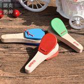 兒童音樂玩具 樂器 兒童長柄響板 響拍德國goki童打擊樂器【父親節禮物】