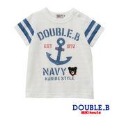DOUBLE_B       普奇熊水手海軍風短袖T恤(白)