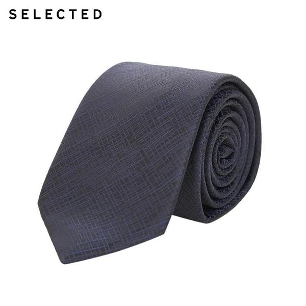 SELECTED思萊德男士新品暗格紋商務氣質領帶S 42011T509 8號店