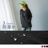 《KS0567-》防潑水吸濕排汗機能雙口袋韓系抽繩連帽運動上衣 OB嚴選