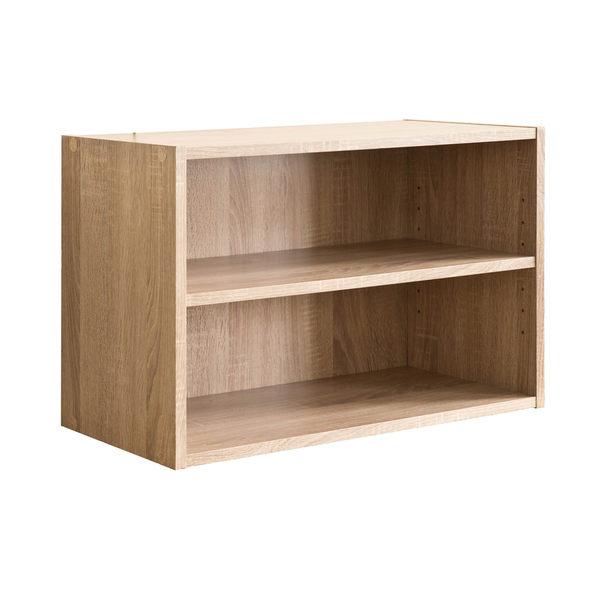 空櫃 收納【收納屋】艾莉絲加大二格櫃-原木色&DIY組合傢俱