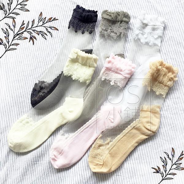 (現貨) 水晶短襪 韓版玻璃絲襪 網紗襪 NO.8161 流蘇感水晶襪 (平日天天出貨)
