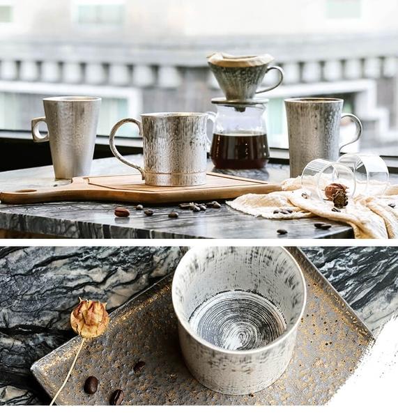 銀彩釉現代馬克杯-(270ml)