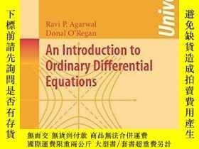 二手書博民逛書店An罕見Introduction To Ordinary Differential EquationsY256