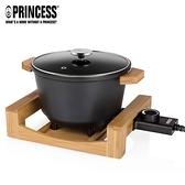 【PRINCESS 荷蘭公主】多功能陶瓷料理鍋/黑 173026 (加贈專用油炸籃)