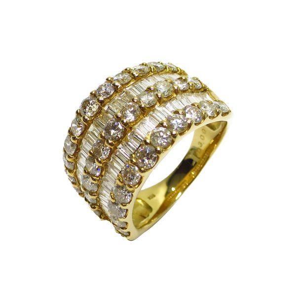 JEWELRY 鑽石戒指 12號 K18YG D3.00ct 【BRAND OFF】