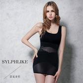 收腹托臀X戰鬥  長版寬肩瘦身衣塑身衣M-XXL(黑)  《SV6282》快樂生活網