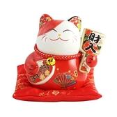 五寶吉祥4.5吋招財貓-紅