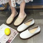 平底鞋 護士鞋女軟底2021新款春鞋單鞋百搭韓版一腳蹬不累腳外穿孕婦鞋子 薇薇