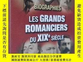 二手書博民逛書店法文原版罕見Biographies : les grands romanciers du XIXe siècle奇