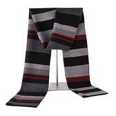 針織圍巾-條紋經典提花羊毛男披肩3色73wi56[時尚巴黎]