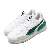 Puma 籃球鞋 Clyde Hardwood 白 綠 男鞋 低筒 運動鞋 【PUMP306】 19366302