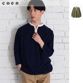 出清 USA美國棉 開領7分袖 休閒上衣免運費 日本品牌【coen】