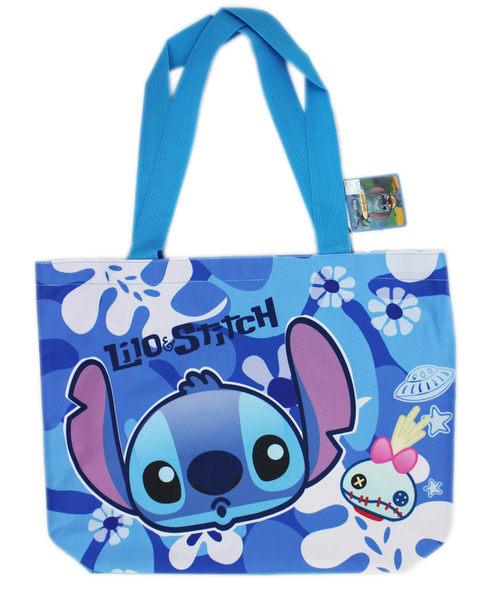 【卡漫城】 史迪奇 肩背包 藍 ㊣版 手提袋 才藝袋 補習袋 收納袋 側背包 星際寶貝 Stitch 醜丫頭