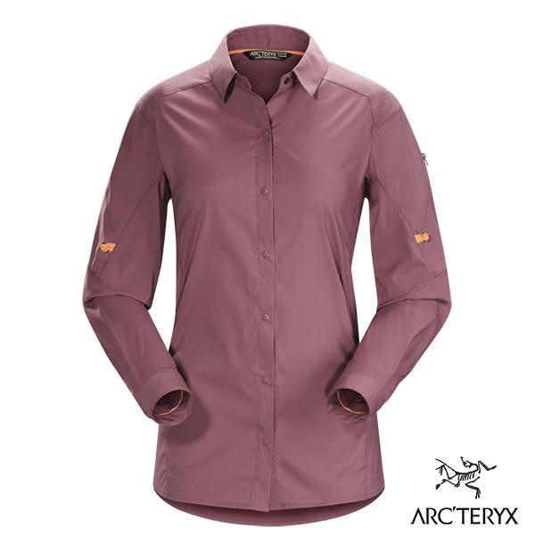 Arcteryx 始祖鳥 女 Fernie抗UV長襯衫-紫紅 【GO WILD】