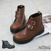短靴 雙側扣魔鬼氈短靴 MA女鞋 T9211