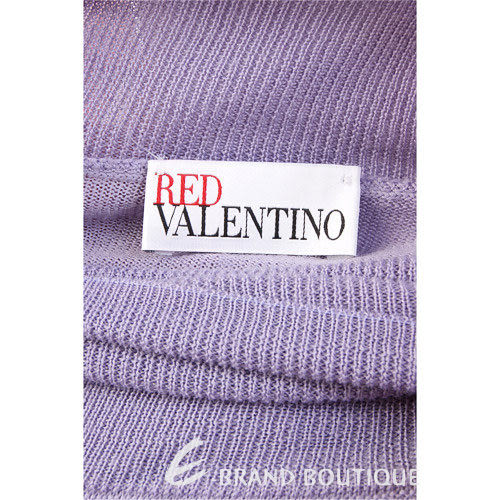 VALENTINO 薰衣草紫色蝴蝶結飾高領毛衣 1230428-47