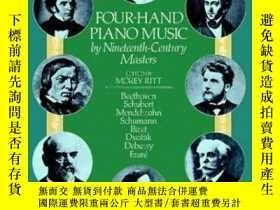 二手書博民逛書店19世紀著名四手聯彈鋼琴曲Four-Hand罕見Piano Music by Nineteenth-Century