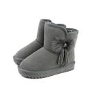雪靴 靴子 戶外休閒鞋 灰色 童鞋 no111