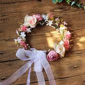 新娘韓式頭花髮箍伴娘森女滿天星花環海邊度假頭飾品森女髮飾   居家物語