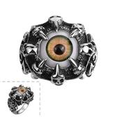 鈦鋼戒指 眼睛-暗黑個性歐美龐克風生日情人節禮物男飾品73le36【時尚巴黎】