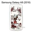 迪士尼空壓氣墊軟殼 [花草] 米奇 Samsung Galaxy A8 (2016) 5.7吋【Disney正版授權】