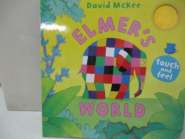 【書寶二手書T1/少年童書_KXF】Elmer's Touch and Feel World_David McKee