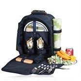 野餐包 含2人餐具組-雙人套裝野外方便攜帶保溫燒烤雙肩後背包68ag8【時尚巴黎】