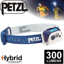 【Petzl 法國 ACTIK頭燈《300流明/藍》】E99AAC/頭燈/防潑水/緊急照明燈/登山露營/救難/手電筒