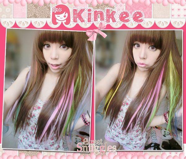 *╮Kinkee假髮╭*ABBY  韓系高仿真 自由分線 療癒系女孩輕柔飄逸耐熱長直髮【H0063】