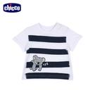 chicco-To Be Baby-短袖上衣-條紋白