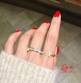 戒指女 日韓版時尚滿?鍍18K玫瑰金鈦鋼戒指女食指環精品戒子飾品不褪色 多款可選