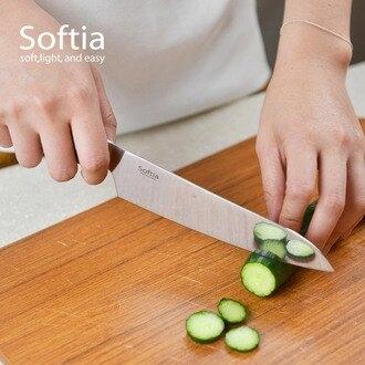 【日本Softia設計廚具】一體成形全功能料理刀(三德刀)-160mm