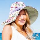 抗UV帽子-可收納寬邊遮陽淑女帽17SS-S002