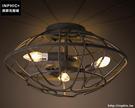 INPHIC- 工業風格吸頂燈復古懷舊服裝店鋪咖啡館鐵藝鳥巢吸頂燈_S197C