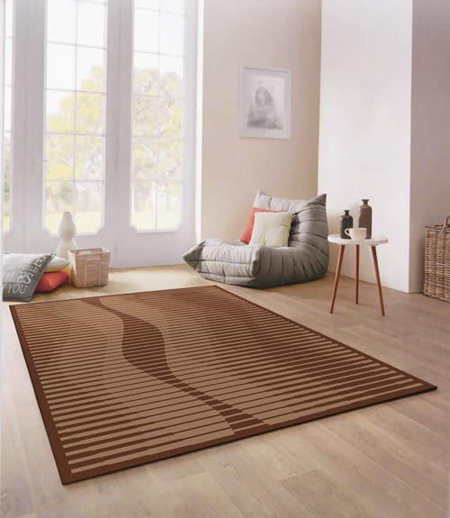 【范登伯格進口地毯 】西堤簡樸圈毛編織地毯/地墊-曲線條170x230cm