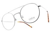 CARIN 光學眼鏡 LADI C3 (銀) 韓星秀智代言 復古雙槓造型款 # 金橘眼鏡