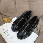韓版日系軟妹原宿風小皮鞋女ulzzang潮學院風平底樂福鞋學生單鞋『小淇嚴選』