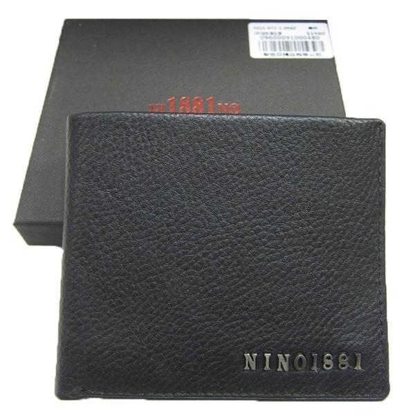 ~雪黛屋~18NINO81 短夾專櫃男仕短夾100%進口牛皮標準尺寸簡易型設計附品牌禮盒BNI150720960