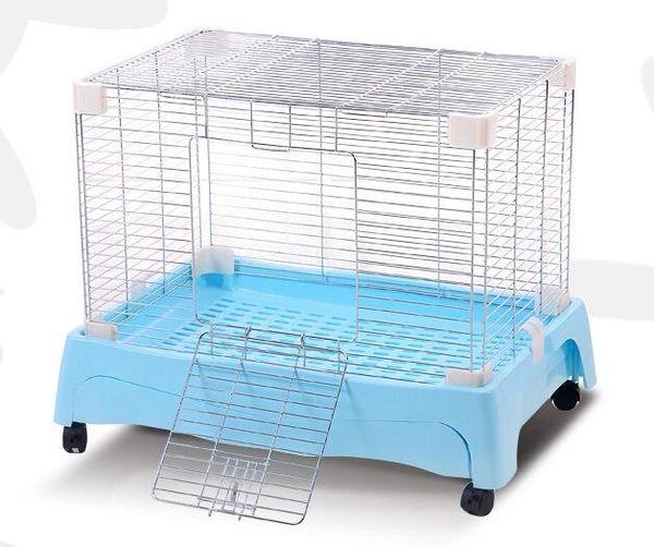 多功能兔籠 抽屜兔籠 豪華兔籠 狗籠 龍貓籠 易清洗 電鍍抽屜籠 49*33*37CM【藍星居家】