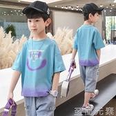 男童T恤 童裝男童夏裝T恤新款韓版兒童夏款短袖中大童洋氣男孩休閒潮 至簡元素