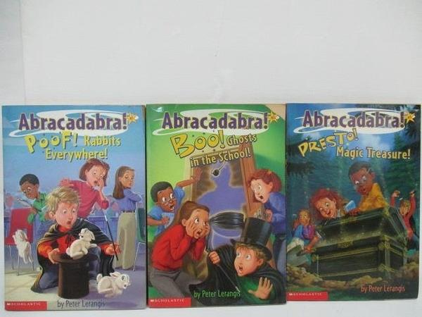 【書寶二手書T1/原文小說_A4E】Abracadabra!Pres to Magic Treasure等_3本合售
