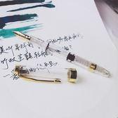 鋼筆活塞鋼筆彩墨墨水桐山透明鋼筆毛筆 新品特賣