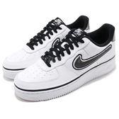 Nike 休閒鞋 Air Force 1 07 LV8 Sport AF1 白 黑 小勾勾 NBA LOGO 運動鞋 男鞋【PUMP306】 AJ7748-100