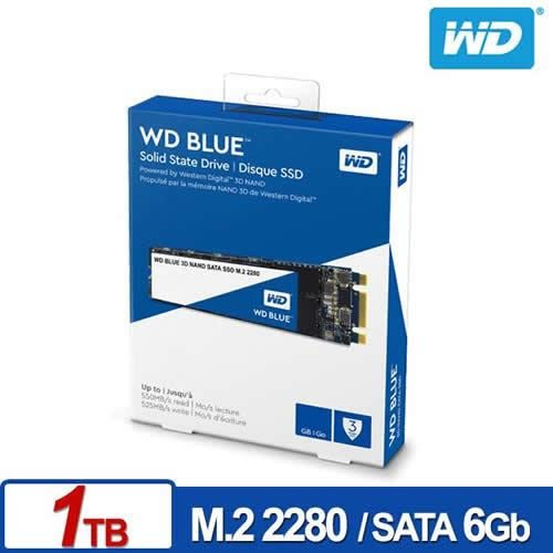 WD SSD 1TB M.2 SATA 3D NAND固態硬碟(藍標)