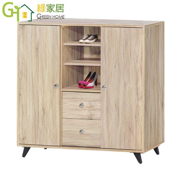 【綠家居】斯洛比 時尚3.7尺二抽二門鞋櫃/玄關櫃
