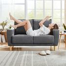 林氏木業北歐小戶型雙人布沙發 LS075-深灰色