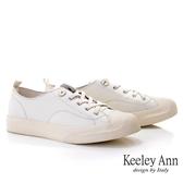 Keeley Ann我的日常生活 牛皮面小雛菊餅乾休閒鞋(米白色) -Ann系列